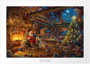 Thomas Kinkade Santa's Workshop 12 x 18 S/N Limited Edition Paper