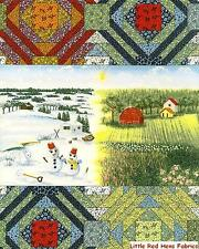 "BTY Faux Patchwork ""Seasons Best""  RJR 100% Cotton Sew Craft Quilt Shop Fabric"