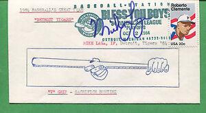 Signé Housse Avec / Cachet 1984 Mike Laga Detroit Tigers 1st Base - B0764