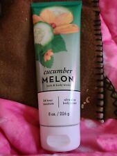 Bath & Body Works Cucumber Melon 24 Hour Moisture Ultra Shea Body Cream 8 Oz