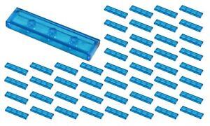 ☀️50x NEW LEGO 1x4  Dark-Light Blue Tiles Trans-blue trans blue translucent