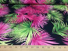 "Hawaiian Tropical Print 4 Way Stretch Heavy Weight Poly Lycra Fabric 58"" W BTY"