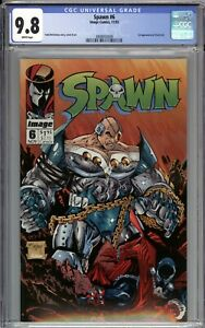 Spawn #6 CGC 9.8 NM/MT 1st Appearance of Overt-Kill WHITE PAGES