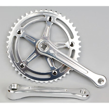 IRD Defiant Track Crankset 167.5mm x 46T Polished Silver 144BCD Alloy Fixed Gear
