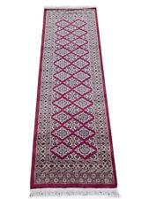 Red 6 ft coastal design rug runners Bokhara Handmade 2' 1'' x 6' 3'' Runner