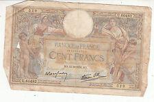 BILLET FRANCE  100  FRANCS   MERSON  11 / 8 / 1938 BO