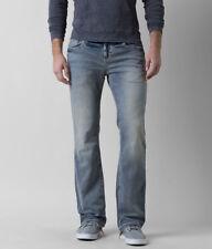 New Aiden Boot Stretch Jeans Men's Buckle Light Wash Denim size 30x30 # AVM21094