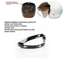 Système Flip-Up 70's x visière casque jet 3/4 BUBBLE cafe racer moto