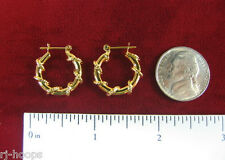 MADE IN USA - Gold Plated Wrapped Wire Design ~3/4 Hoop earrings