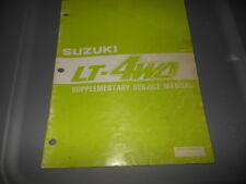 Factory OEM Suzuki 1988 LT-4WD J Supplementary Service Manual 33pgs