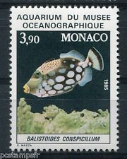 MONACO 1985, timbre 1486, POISSON BALISTOIDES CONSPICILLUM, neuf**