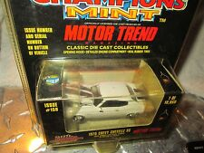 197O CHEVELLE SS CHEVY WHITE W BLACK  Racing Champions RC ERTL MINT  1:60 Scale