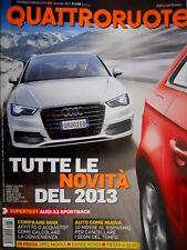 Quattroruote 688 2013 Test Audi A3 sportback. Prova Opel Mokka, Fiesta, Clio Q98