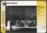 OUR TOWN Broadway Play Cast Photo 1996 GROLIER STORY OF AMERICA CARD