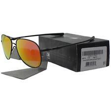 Oakley OO 4119-0458 ELMONT M Satin Black Ruby Iridium Mens Womens Sunglasses