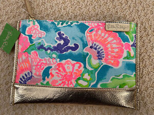 Lilly Pulitzer Gypset Pouch Blue Ibiza Shell Search