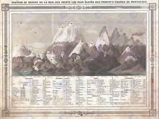 Géographie carte illustrée antique barbie bocage mountain poster print BB4267B