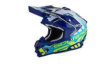CASCO tg. L MOTO CROSS OFFROAD Scorpion VX 15 EVO AIR ARGO, BLU BIANCO GIALLO