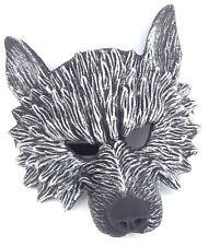 Latex Wolf Mask Half Face Werewolf Cosplay Halloween Costume Furry Roleplay