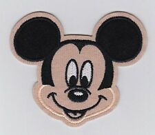 Mickey Mouse Smiley Face Head embroidered Iron On / Sew On Patch/Applique