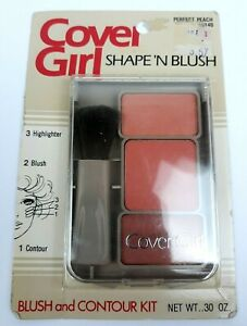 VTG NOS 1980's Cover Girl Shape N Blush Perfect Peach Make up Kit Sealed Clean!