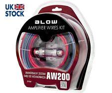 """Kit De Cables De Amplificador """"golpe"""" AW200 COCHE AMPLIFICADOR AUDIO RCA fusible AGU 30 A HQ"""