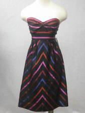 GUESS JEANS Silk Strapless Empire Waist Striped Dress 9 NEW