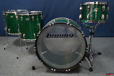 "Ludwig USA Vistalite 45th Anniversary Set in ""Green Sparkle""  -  24,13,16,18"""