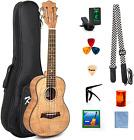 Kmise Concert Ukulele,23 Inch Tiger Flame Ukelele Kit,With Bag,Capo, Uke Strap,  for sale