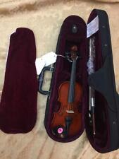 "Celestini 1/32 Size (8"") Student Violin Gloss Finish-Real Wood/Ebony-Shop Setup!"