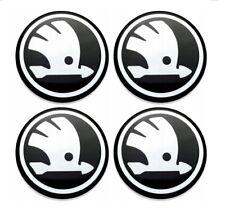 4 x 50mm Aufkleber für Radkappen Skoda Logo Embleme Mittelkappen 3D