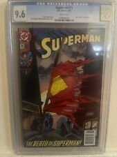 Superman #75 CGC Graded 9.6 DC 1993 Newsstand Edition Gatefold Cover Comic Book.