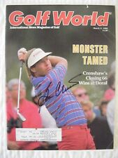 BEN CRENSHAW signed 1988 Golf World magazine AUTO Autographed TEXAS LONGHORNS SI