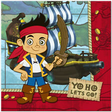 JAKE and the NEVER LAND PIRATES LUNCH NAPKINS (16) ~ Birthday Party Supplies Red
