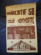 Partition The indicative 50 Grival Coeur de Montmartre Claudy Gil Music Sheet