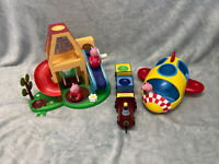 Peppa Pig Weebles Play House, Train & Rocket With 3 Weeble Figures