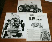 JI Case 400 LP Gas Tractors Advertising & 2 Original Photos Rare