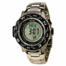 Casio Men's Watch Pro Trek Grey Digital Dial Solar Power Titanium PRW3500T-7