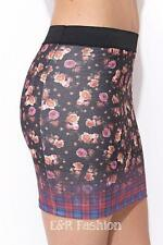 ZARA FLORAL MINI SKIRT SIZE SMALL (B4) REF: 0264 298