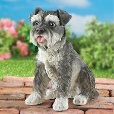 Realistic Schnauzer Puppy Dog Yard Garden Statue