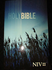 NIV Outreach Bible - Blue Wheat Cover by Biblica Staff (2015, Paperback)