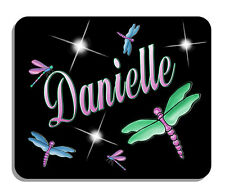 Dragonflies Pink Green Blue Mouse Pad Personalize Gifts Any Name Or Text Colors