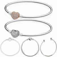 European Silver Bracelets Bangle Charm Beads Fit DIY 925 sterling Charms Pendant