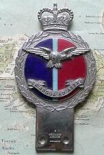 Quality Gaunt Heavy Chrome Enamel Car Mascot Badge  RAF Royal Air Force