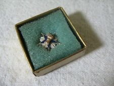 Beautiful STERLING SILVER Wheat on Blue Star Farm Award Tie Tack Lapel Pin ~