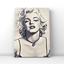 Celebrities canvas wall art  -Marilyn Monroe illustration vintage black & white
