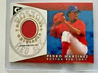 2005 Topps Gallery Pedro Martinez Boston Red Sox Game-Worn Jersey Card GO-PM