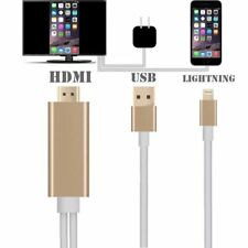 Lightning Connect to HDMI TV AV Cable Adapter for Apple iPhone 5/5S/6/6S iPad 2M