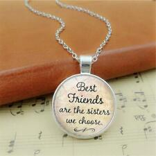 Time Gem Glass Necklace Pendant Chains Birthday Best Friends For Friends Women