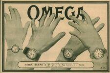Publicité ancienne bijoux montres Omega 1917 issue de magazine